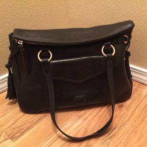 Dooney & Bourke Black Leather Bag - Large